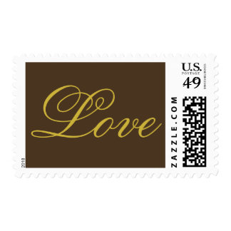 Cafe Noir Black Coffee Gold Love Wedding Postage