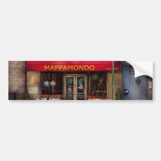 Cafe - NY - Chelsea - Mappamondo Bumper Stickers