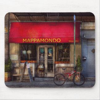 Cafe - NY - Chelsea - Mappamondo Mouse Pad