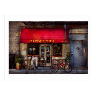 Cafe - NY - Chelsea - Mappamondo Postcard