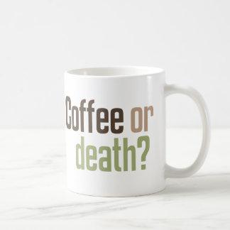 ¿Café o muerte? Tazas