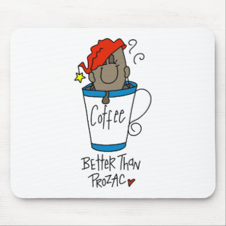 Café o Prozac Alfombrilla De Ratones