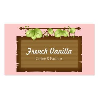 Café o restaurante rústico de madera viejo de la plantillas de tarjetas de visita