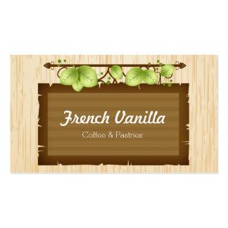 Café o restaurante rústico de madera viejo de la tarjeta de visita