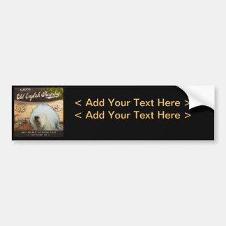 Cafe Old English Sheepdog Car Bumper Sticker