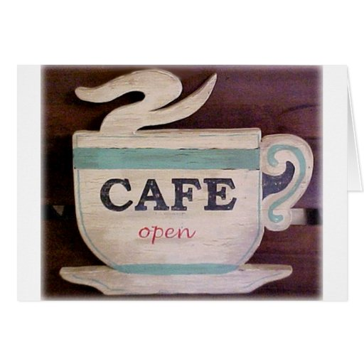 Cafe Open Card