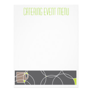 Cafe or catering menu template