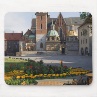Cafe overlooking Wawel Cathedral, Wawel Hill, Mouse Pad