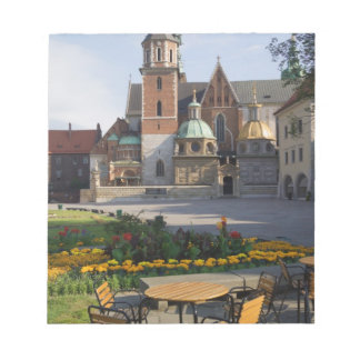 Cafe overlooking Wawel Cathedral, Wawel Hill, Memo Pads