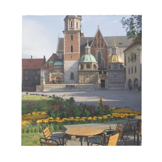 Cafe overlooking Wawel Cathedral, Wawel Hill, Notepad
