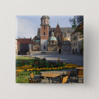 Cafe overlooking Wawel Cathedral, Wawel Hill, Pinback Button