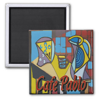 Cafe Pablo Coffee Stand Magnet