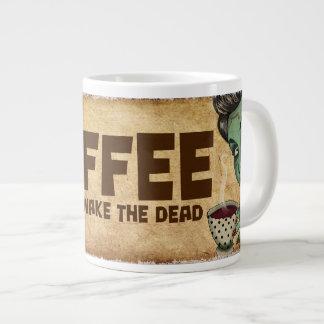Café para despertar la taza enorme muerta taza grande