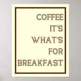 Café para el poster del desayuno