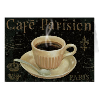Cafe Parisien Greeting Card