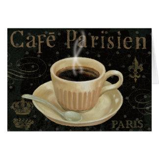 Café Parisien Tarjeta De Felicitación