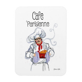 Cafe Parisienne Chef Magnet by Artist