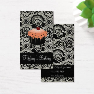 Cafe pastry chef bakery baker cupcake business card