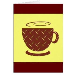 Café pausa tarjeta de felicitación