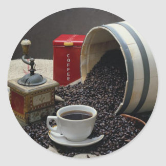 Café Etiqueta Redonda