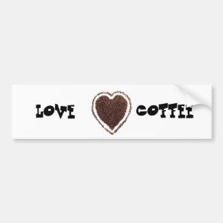 café pegatina para auto