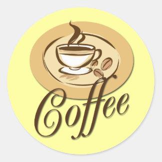 CAFÉ PEGATINA REDONDA