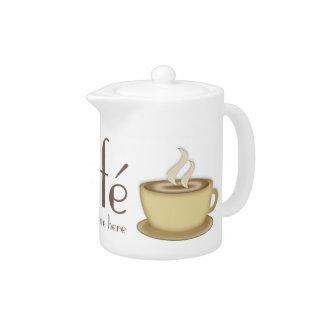 Café personalizó la tetera