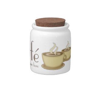 Café personalizó pequeño plato para caramelo