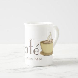 Café personalizó personalizado taza de porcelana