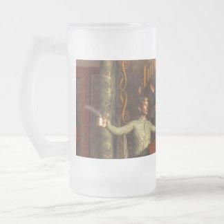 Cafe Philosophy Frosted Glass Beer Mug