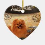 Café Pomeranian Ornamento De Navidad