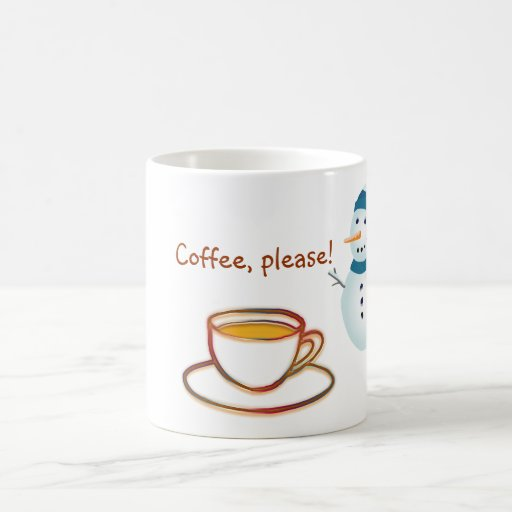 ¡café, por favor! taza básica blanca