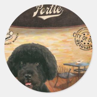 Cafe Portie Classic Round Sticker