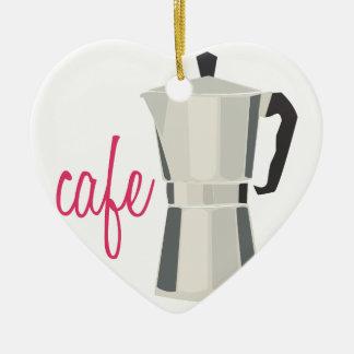 Cafe Pot Ceramic Ornament
