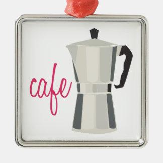 Cafe Pot Metal Ornament