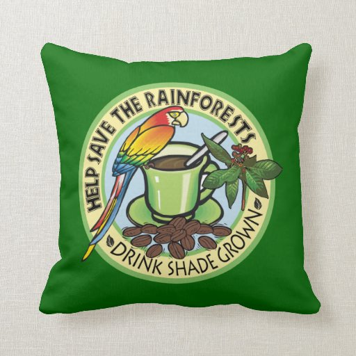 Café producido sombra almohadas