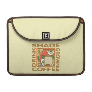 Café producido sombra funda para macbooks