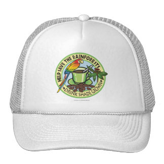 Café producido sombra gorra