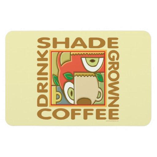 Café producido sombra iman flexible