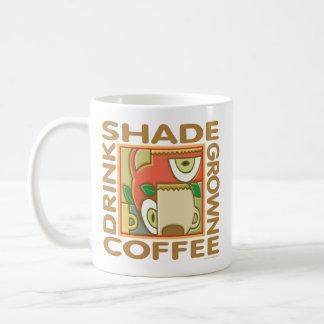 Café producido sombra taza de café