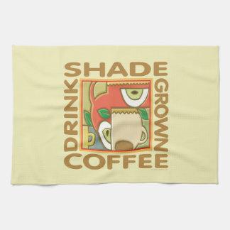 Café producido sombra toalla