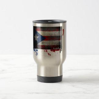 Café puertorriqueño de la bandera taza