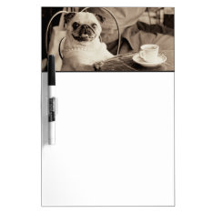 Cafe Pug Dry-erase Board at Zazzle