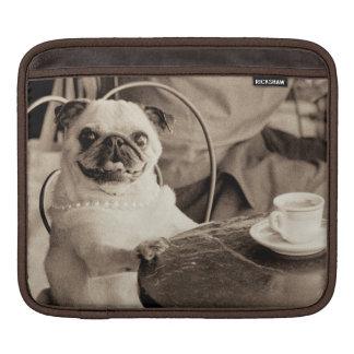 Cafe Pug iPad Sleeve
