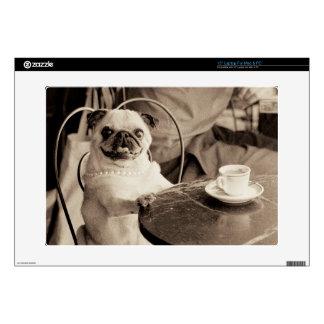 Cafe Pug Skin For Laptop