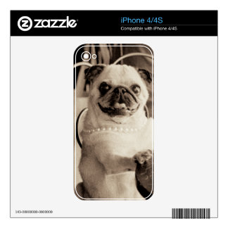 Cafe Pug Skin For The iPhone 4