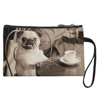 Cafe Pug Wristlet Wallet