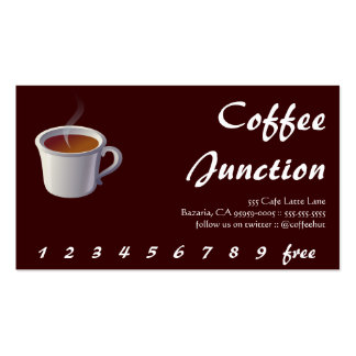 Café que cuece el sacador/la lealtad de la bebida tarjetas de visita