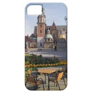 Café que pasa por alto la catedral de Wawel, iPhone 5 Funda