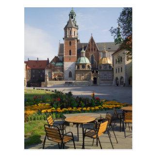 Café que pasa por alto la catedral de Wawel, Postal